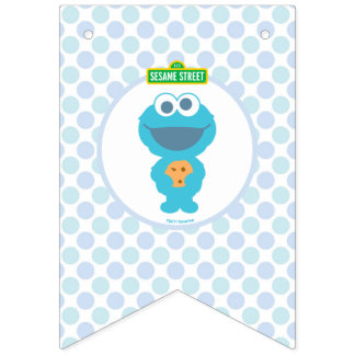 Cookie Monster | Baby's First Birthday Bunting Flags