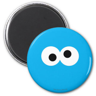 Cookie Monster Big Face 2 Inch Round Magnet