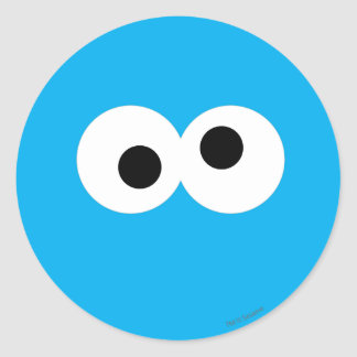 Cookie Monster Big Face Classic Round Sticker