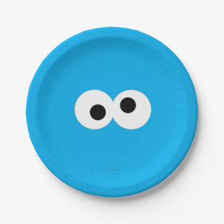 Cookie Monster Big Face Paper Plate
