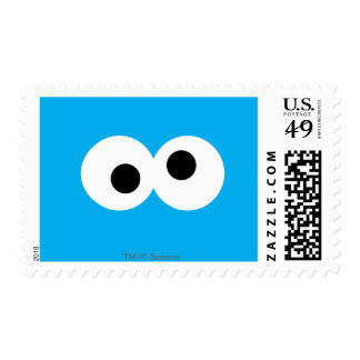 Cookie Monster Big Face Postage Stamp