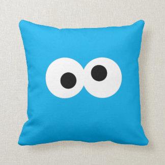 Cookie Monster Big Face Throw Pillow