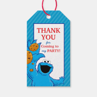 Cookie Monster Birthday Gift Tags