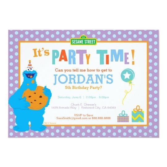 Cookie Monster Birthday Invitation Zazzle Com