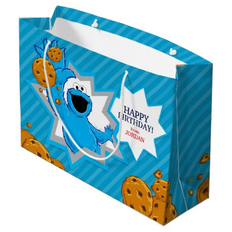 Cookie Monster Birthday Large Gift Bag