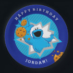 "Cookie Monster Birthday Paper Plate<br><div class=""desc"">Cookie Monster Extreme loves to party!        This item is recommended for ages 2 . &#169;  2014 Sesame Workshop. www.sesamestreet.org</div>"