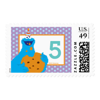 Cookie Monster Birthday Postage Stamp