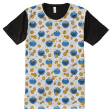 Cookie Monster   C is for Cookie Pattern All-Over-Print T-Shirt
