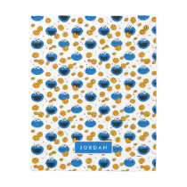 Cookie Monster | C is for Cookie Pattern Fleece Blanket