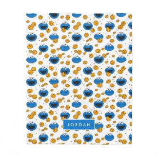 Cookie Monster | C is for Cookie Pattern Fleece Blanket