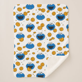 Cookie Monster | C is for Cookie Pattern Sherpa Blanket