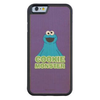 Cookie Monster Character Art Carved Maple iPhone 6 Bumper Case