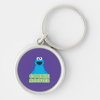 Cookie Monster Character Art Keychain