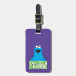 Cookie Monster Character Art Luggage Tag