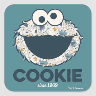 Cookie Monster | Cookie Since 1969 Square Sticker