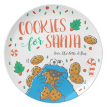 Cookie Monster | Cookies for Santa Dinner Plate