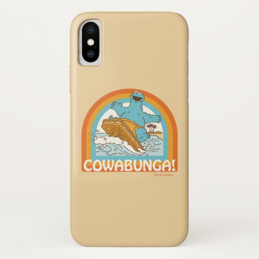 Cookie Monster Cowabunga! iPhone X Case