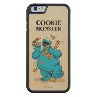 Cookie Monster Crazy Cookies Carved Maple iPhone 6 Bumper Case