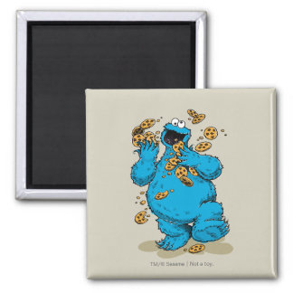 Cookie Monster Crazy Cookies 2 Inch Square Magnet
