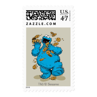 Cookie Monster Crazy Cookies Postage