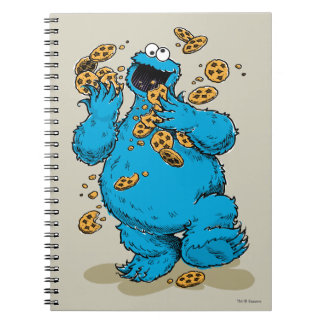 Cookie Monster Crazy Cookies Spiral Notebook