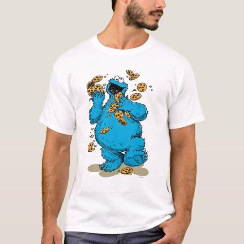 Cookie Monster Crazy Cookies T_Shirt