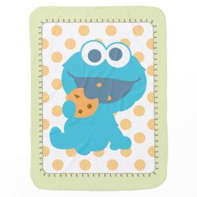 Cookie Monster Eating Cookie Baby Blankets