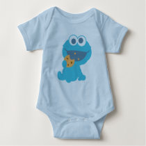 Cookie Monster Eating Cookie Baby Bodysuit