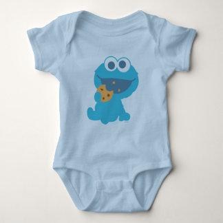 Cookie Monster Eating Cookie Baby Bodysuit