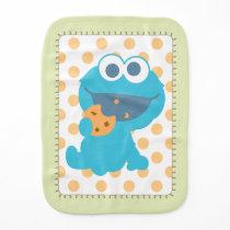 Cookie Monster Eating Cookie Baby Burp Cloth