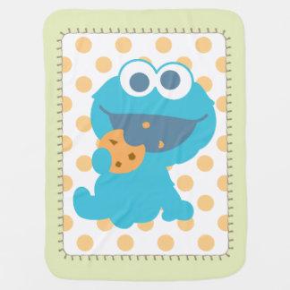 Cookie Monster Eating Cookie Swaddle Blanket