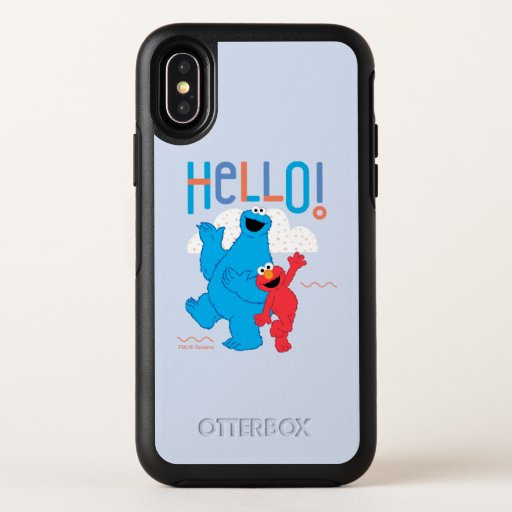 Cookie Monster & Elmo Hello! OtterBox Symmetry iPhone X Case