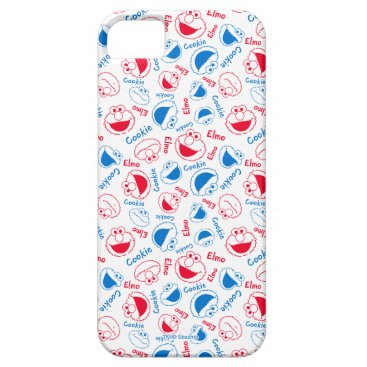 Cookie Monster & Elmo | Red & Blue Pattern iPhone SE/5/5s Case
