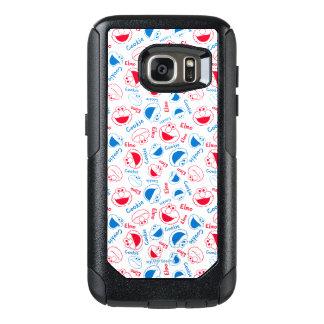 Cookie Monster & Elmo | Red & Blue Pattern OtterBox Samsung Galaxy S7 Case