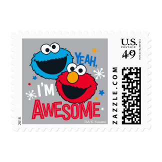 Cookie Monster & Elmo | Yeah, I'm Awesome Postage