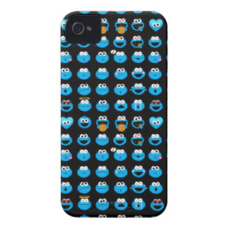 Cookie Monster Emoji Pattern iPhone 4 Case-Mate Case