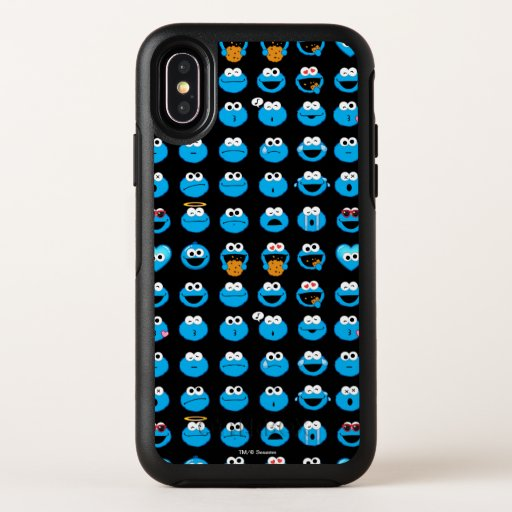 Cookie Monster Emoji Pattern OtterBox Symmetry iPhone X Case