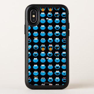 Cookie Monster Emoji Pattern OtterBox Symmetry iPhone X Case