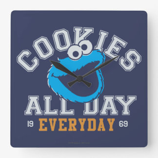Cookie Monster Everyday Square Wall Clock
