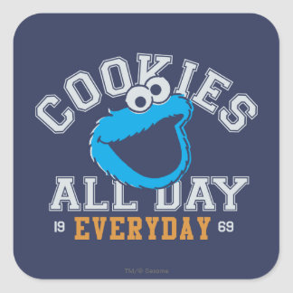 Cookie Monster Everyday Square Sticker
