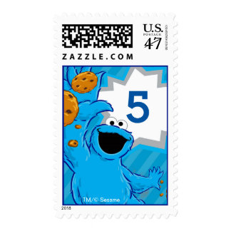 Cookie Monster Extreme Party Postage Stamp