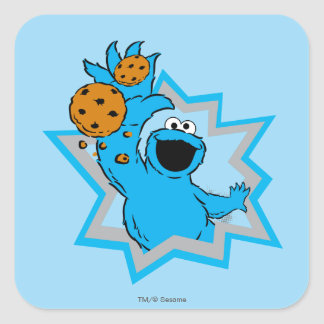 Cookie Monster Extreme Square Sticker