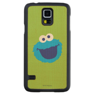 Cookie Monster Face Carved® Maple Galaxy S5 Slim Case