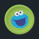 "Cookie Monster Face Paper Plate<br><div class=""desc"">Check out this adorable Cookie Monster face!        This item is recommended for ages 2 . &#169;  2014 Sesame Workshop. www.sesamestreet.org</div>"