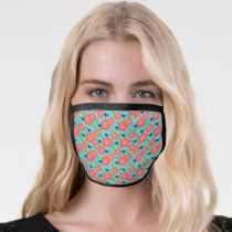 Cookie Monster Floral Pattern Face Mask