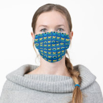 Cookie Monster Flower Pattern Adult Cloth Face Mask