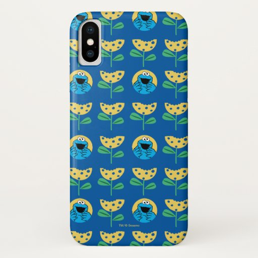 Cookie Monster Flower Pattern iPhone X Case