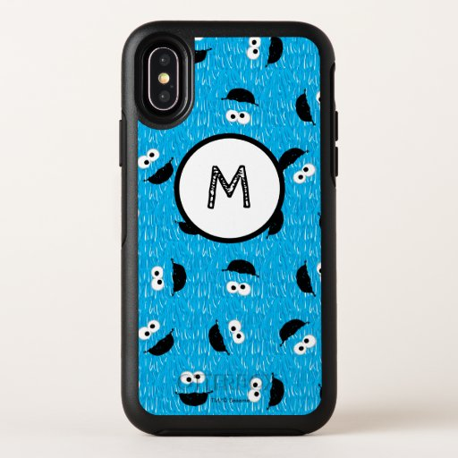 Cookie Monster Fur Face Pattern OtterBox Symmetry iPhone X Case