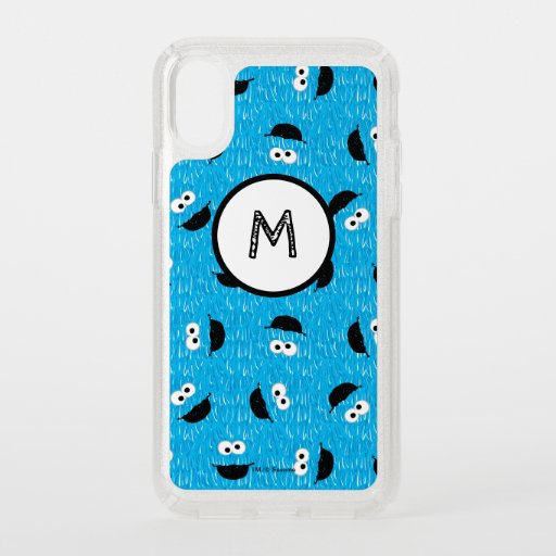 Cookie Monster Fur Face Pattern Speck iPhone X Case