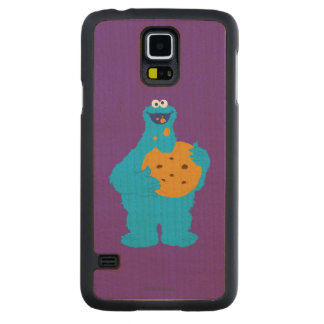 Cookie Monster Graphic Carved® Maple Galaxy S5 Slim Case